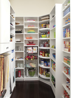 Custom Designed Pantry With Various Storage Areas - Traditional - Kitchen - Philadelphia - by The Closet Works, Inc.