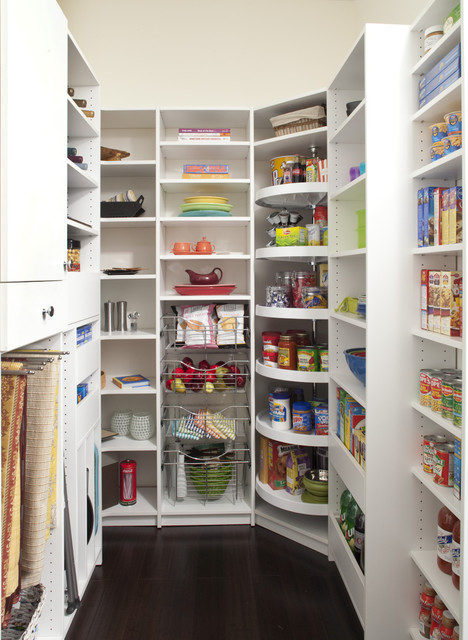 Custom Designed Pantry With Various Storage Areas traditional-kitchen