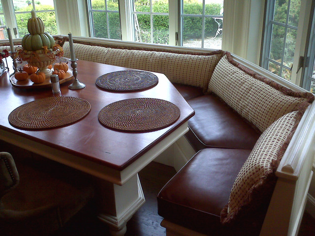 Custom Faux Leather Cushions & Pillows traditional kitchen