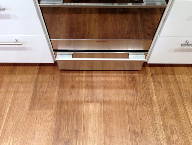 Custom Finish on Character Grade Hickory - Contemporary - Kitchen - other metro - by Mountain ...