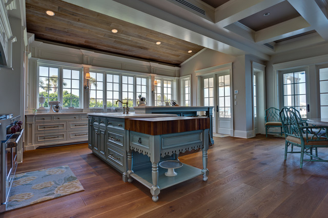 Custom Floors - Kitchen - Craftsman - Kitchen - Miami - by Feil Inc ...