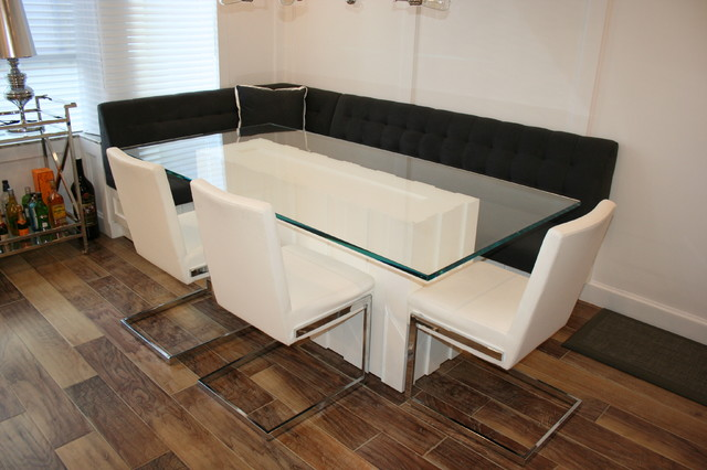 Custom Glass Dining Table Modern Kitchen