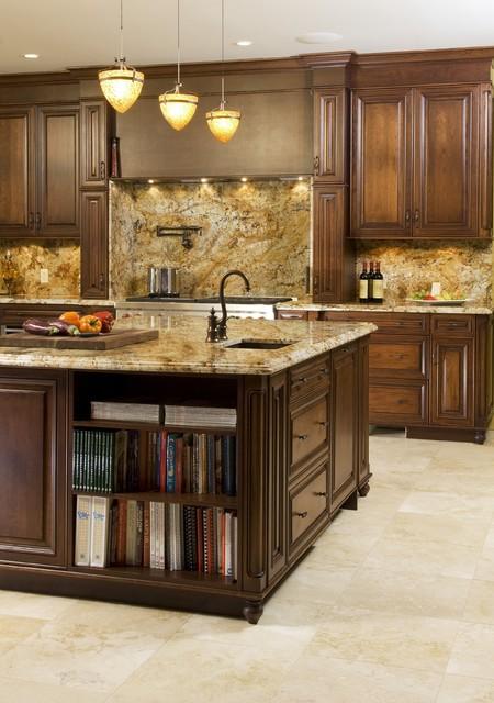 custom glazed cherry kitchen traditional kitchen