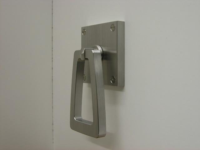 Custom hardware projects modern barn door pull handle contemporary kitchen san francisco - Contemporary interior door knobs ...