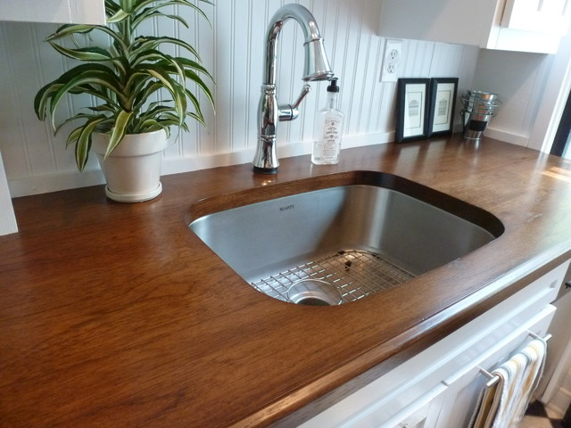 Custom Hickory Wood Countertops - Craftsman - Kitchen ...