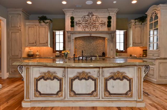 Custom home great falls virginia traditional kitchen for Traditional home great kitchens
