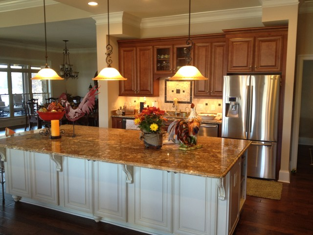 Custom Home in Barefoot Cove traditional-kitchen