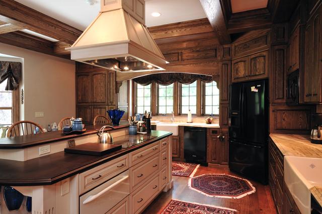 Custom Home Renovation traditional-kitchen