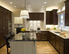 Custom hood traditional kitchen