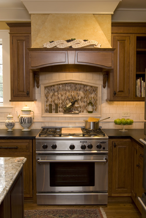 The granite gurus august 2011 - Traditional kitchen tile backsplash ideas ...
