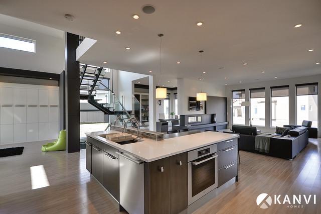 Custom Houses Contemporary Kitchen Edmonton By