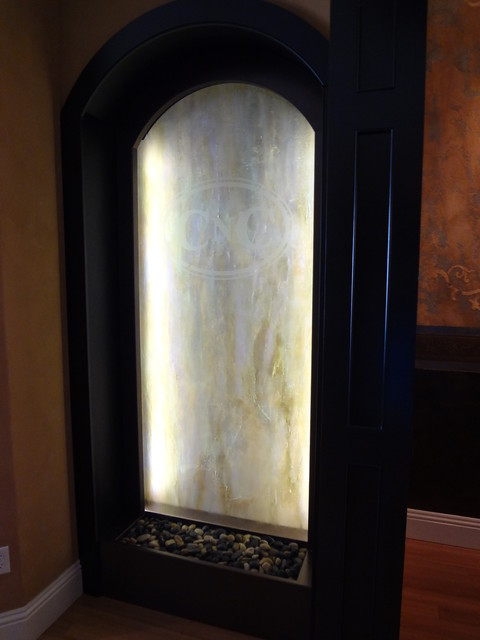 Custom indoor glass water feature orlando fl eclectic for Furniture 4 less muscle shoals al