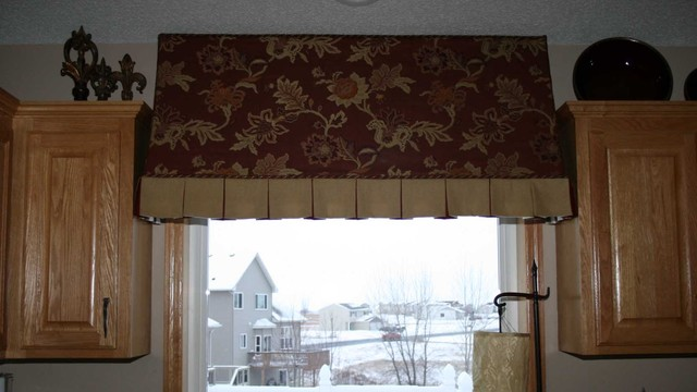 Custom Kitchen Awning Over A Sink Area Traditional
