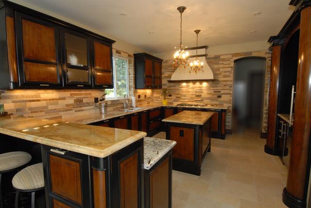custom kitchen backsplash traditional kitchen