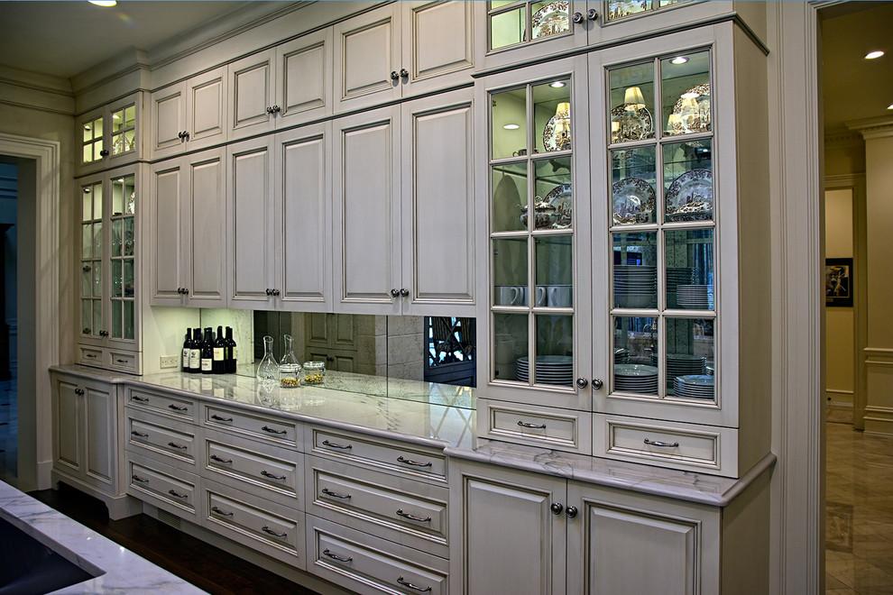 Custom Kitchen China Cabinets & Countertop - Traditional ...