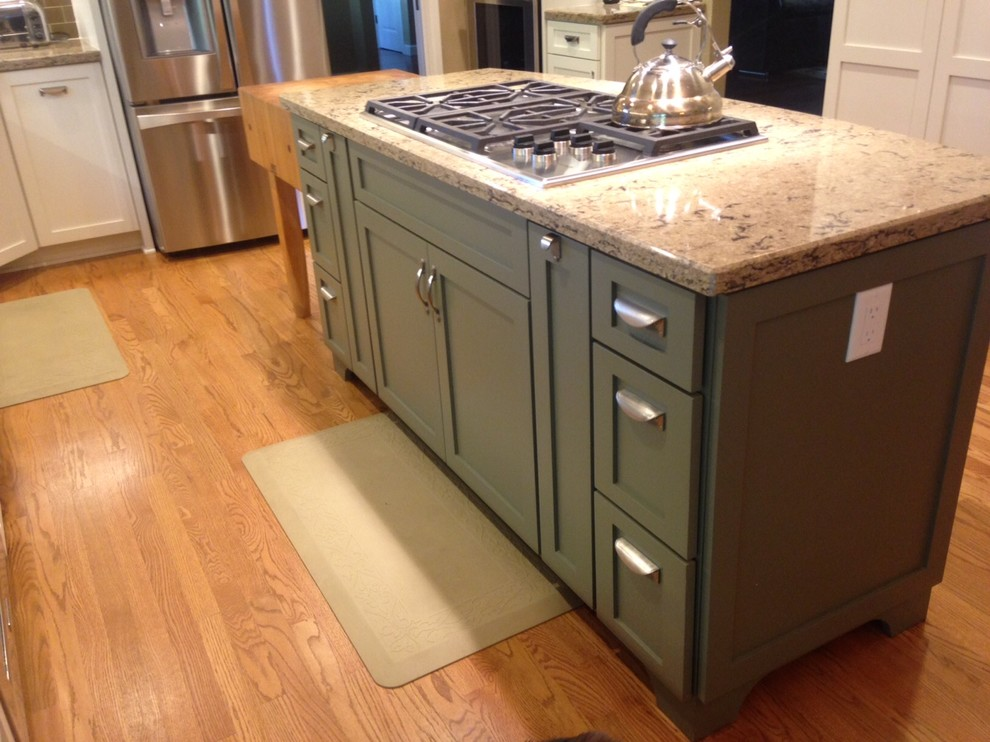 Custom Kitchen Mart Painted Cabinets - Transitional ...