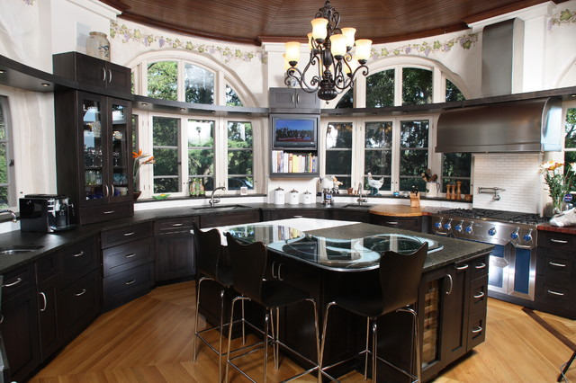 Custom kitchen round room contemporary kitchen Custom kitchens pictures