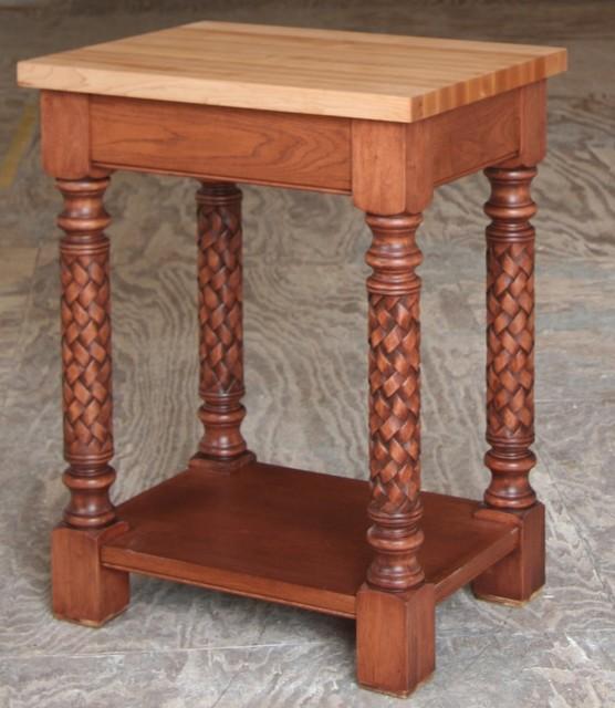 Custom Kitchen Tables - Chopping Block | butcher block - butcher block table - k traditional-kitchen
