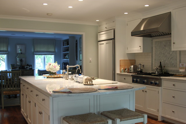 Custom Kitchen with Bump-out Addition traditional-kitchen