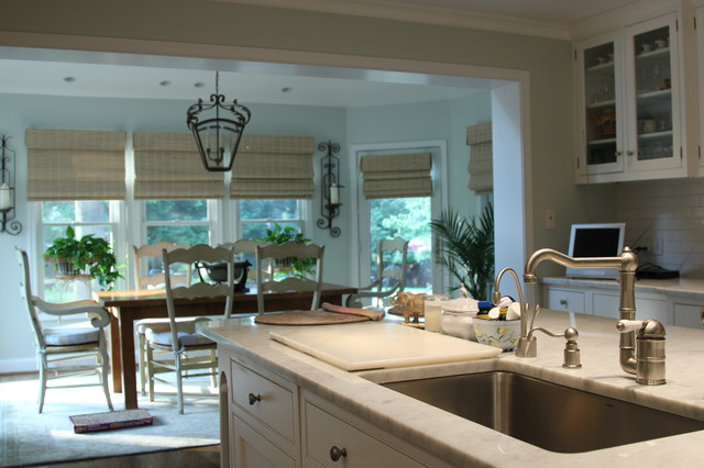 Custom Kitchen With Bump out Addition Traditional