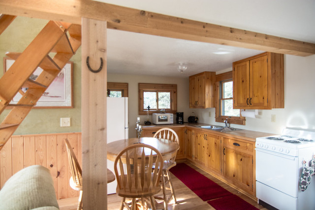 Custom knotty pine kitchen cabinets finished iwith sac ... on