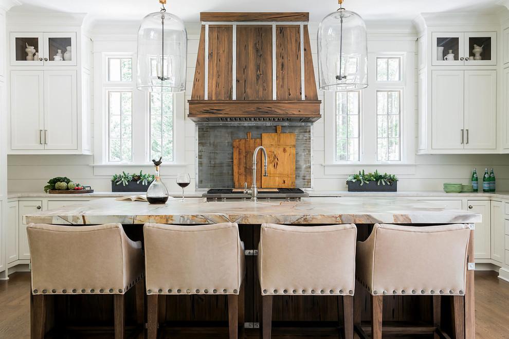 Custom Lake Home New Build - Farmhouse - Kitchen - Atlanta ...