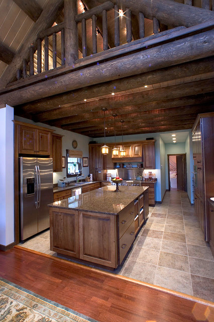 Custom Log Home For Extreme Makeover Home Edition Rustic Kitchen Boston By Katahdin