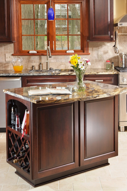 Custom made cherry cabinets by our amish craftsmen for Amish made kitchen cabinets ohio