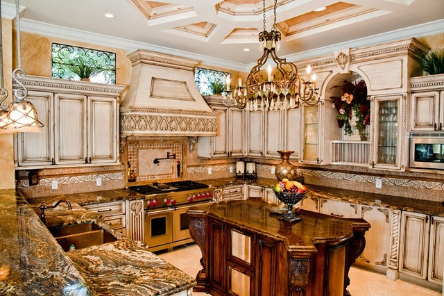 Custom Made Kitchen Cabinets custom made kitchen - mediterranean - kitchen - miami -da