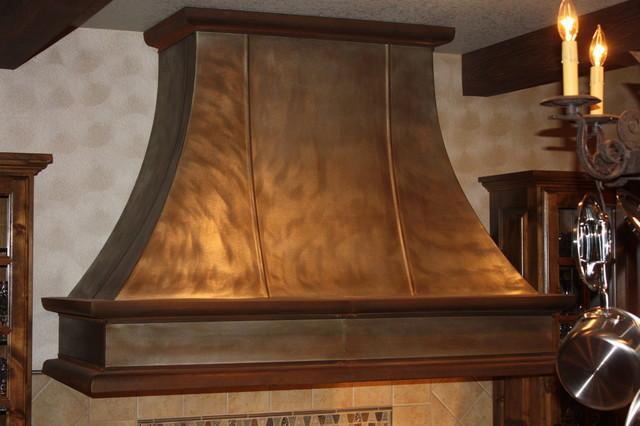 Custom Metal Vent Hoods Traditional Kitchen Denver
