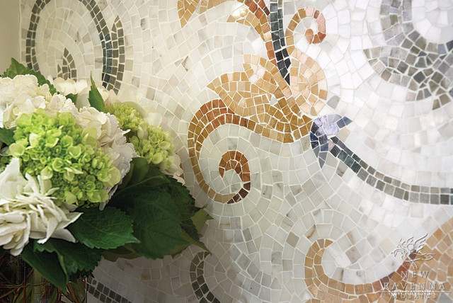 Custom Mosaic New Ravenna Mosaics traditional-kitchen