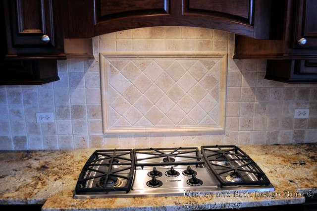 custom natural stone kitchen backsplash traditional