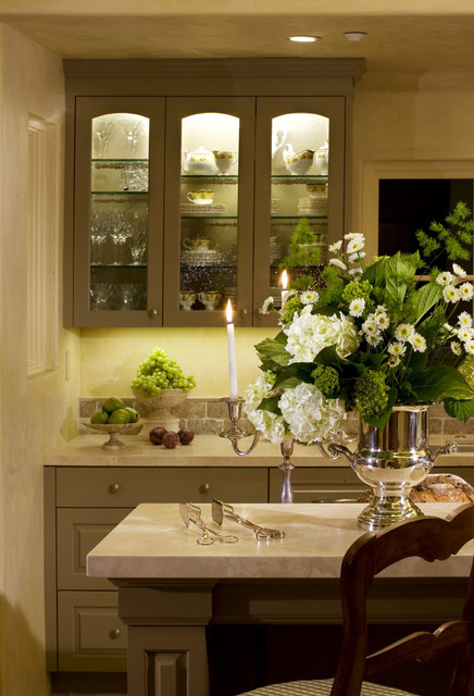Custom Painted Cabinets Wavy Glass Cabinet Doors Tile Backsplash