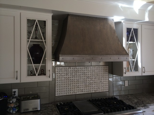 Custom Painted Kitchen Hood - Transitional - Kitchen - denver - by Passionate Home