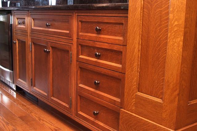 Custom Quarter Sawn White Oak Kitchen Cabinets Craftsman Design Inspirations