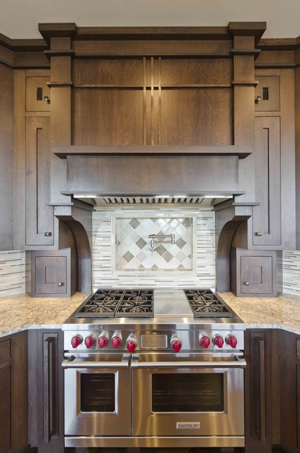 Custom Range Hood And Backsplash Contemporary Kitchen