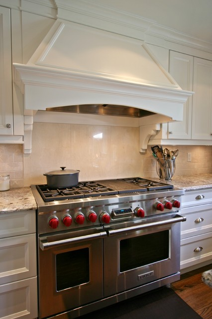 Decorative Range Hoods For Gas Stoves ~ Custom range hood eclectic kitchen by interior works inc