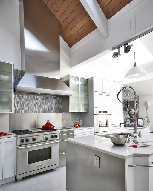 Custom Range Hood - Contemporary - Kitchen - baltimore - by Paul L. Johnson Interiors