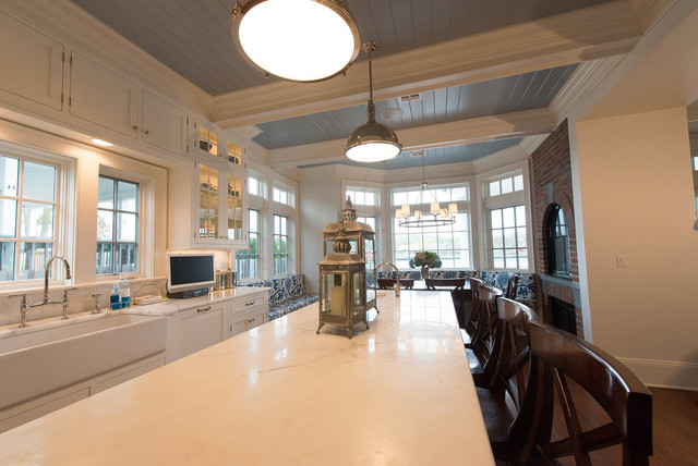 Custom Riverfront Home traditional-kitchen