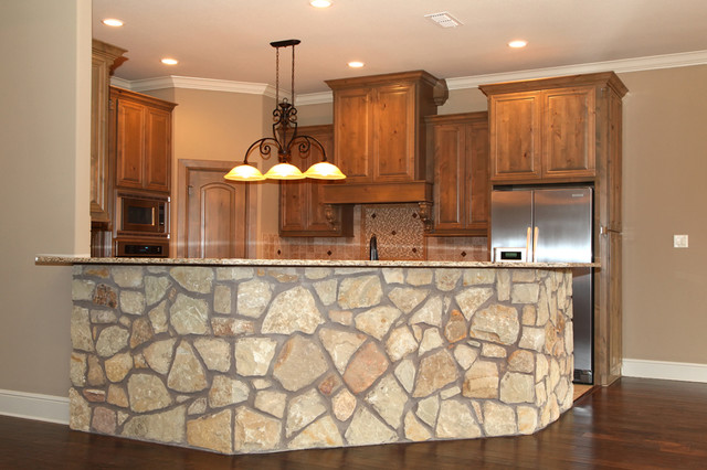 Awesome Custom Rock Kitchen Bar Traditional Kitchen