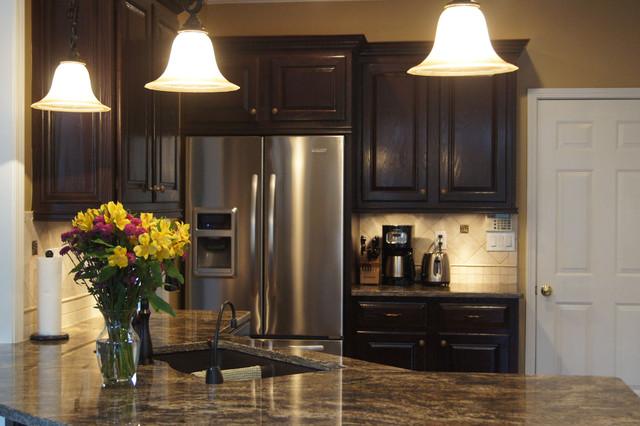 Custom stain finish kitchen