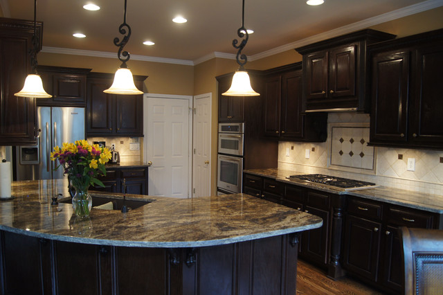 Custom Stain Kitchen Cabinets traditional-kitchen