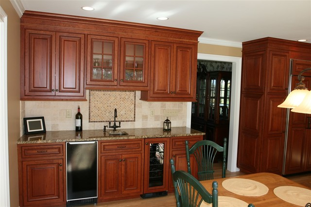 Custom Stained Cherry Kitchen Cabinets