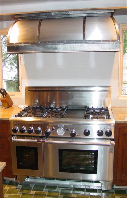 Custom Stainless Steel Range Hood Traditional Kitchen