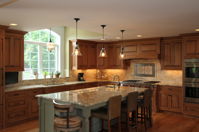 Custom Stone Backsplash - Traditional - Kitchen - Bridgeport - by .