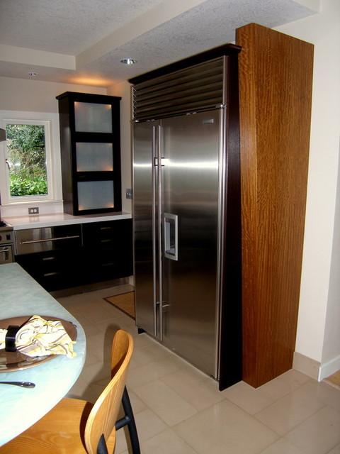 Custom Subzero Refrigerator End Panel