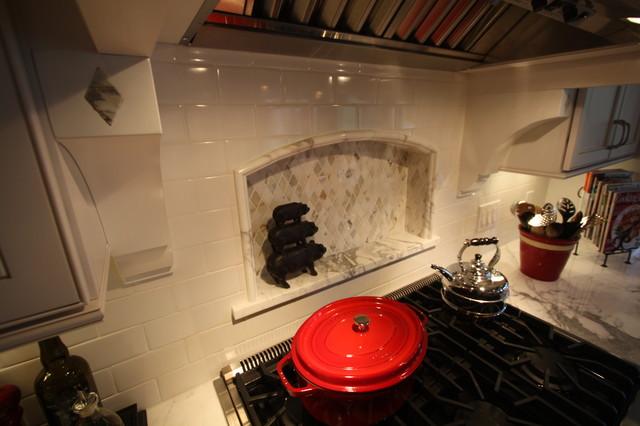 custom tile backsplash traditional kitchen cleveland