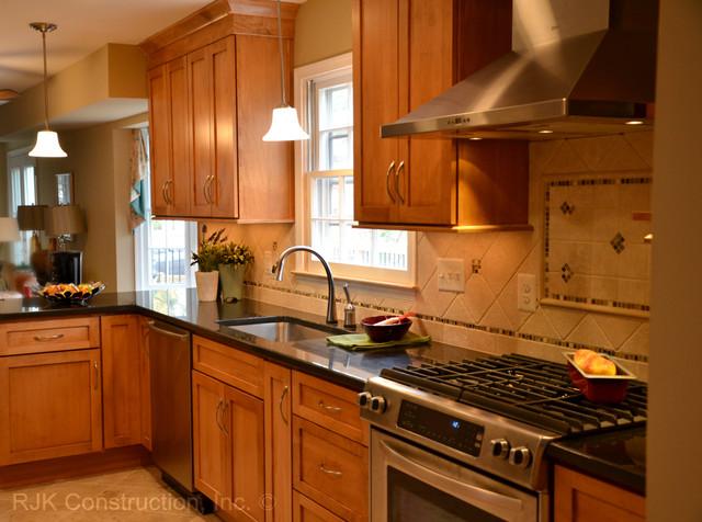 custom tile backsplash kitchen traditional kitchen