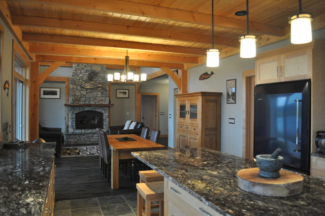 Timber frame ranch home plans - House design plans