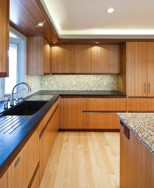 Custom Verano In Amber Bamboo Contemporary Kitchen San